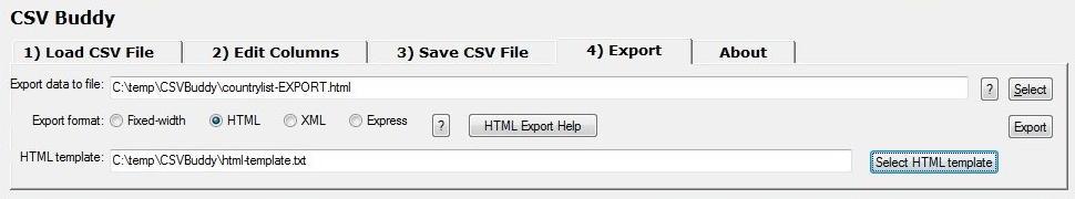 CSV Buddy - Documentation